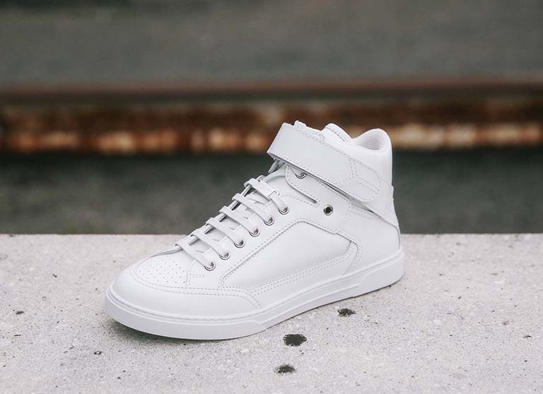 Saint Laurent white High top trainer