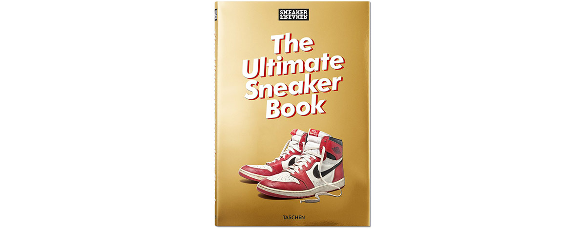 The front cover of the new book The Ultimte Sneaker Book