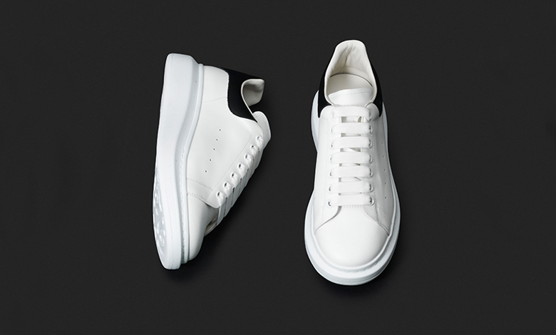 Alexander McQueen oversized white and black leather trainers