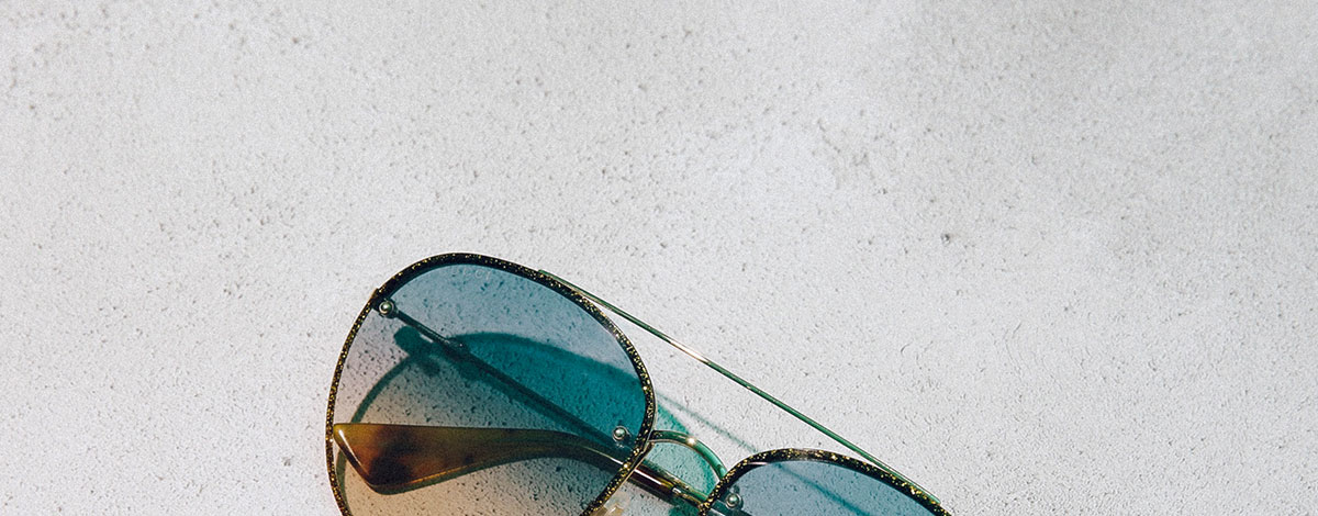 Gucci aviator sunglasses with metal and glitter frames