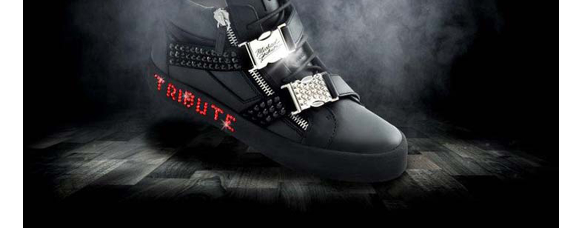 Giuseppe Zanotti Michael Jackson Tribute project high top trainers black