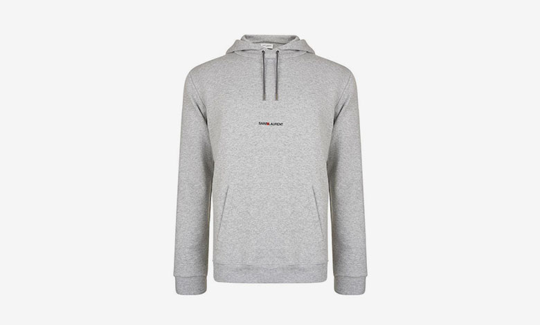 Saint Laurent original 1996 logo sweatshirt in grey
