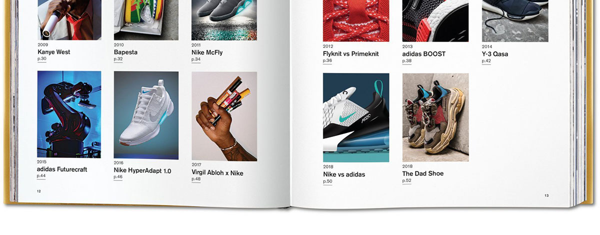 The contents page from The Ultimate Sneaker Book