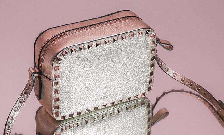 Valentino Rockstud Metallic Shoulder Bag