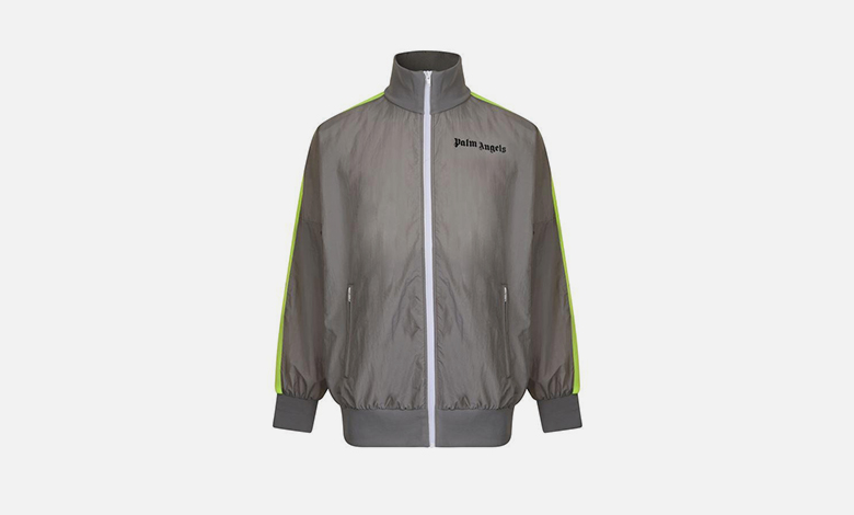 Palm Angels tracksuit jacket with neon stripe sleeve