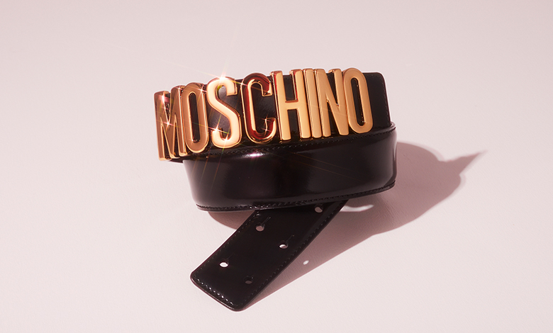 Black and gold Moschino belt