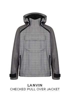 Lanvin checked pullover jacket