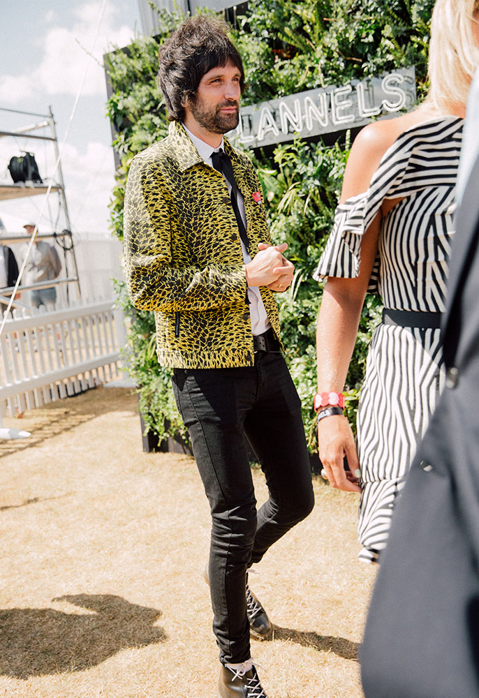 Kasabian's Sergio Pizzorno at the FLANNELS polo summer party