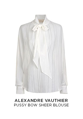 Alexandre Vauthier pussy bow blouse