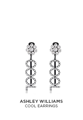 Ashley Williams Cool crystal earrings
