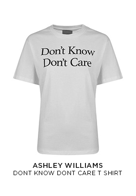 Ashley Williams Don't Know Don't Care T-shirt