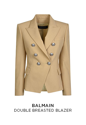 Balmain double breasted blazer in beige