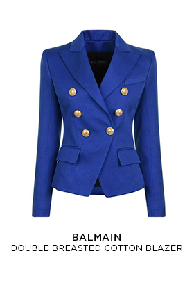 Balmain double breasted blazer blue
