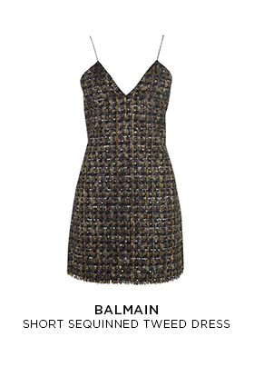 Balmain short sequin tweed dress
