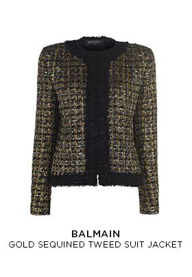 Balmain sequin tweed suit jacket