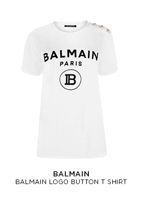 Balmain logo button T-shirt