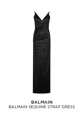 Balmain sequin strap dress