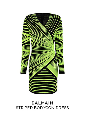 Balmain striped bodycon dress