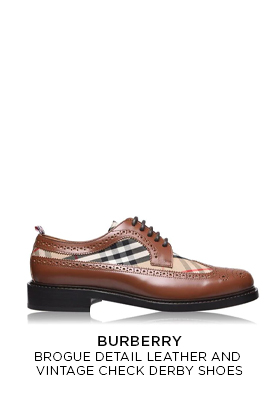 Burberry vintage check derby shoes