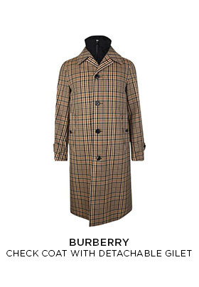 Burberry check car coat