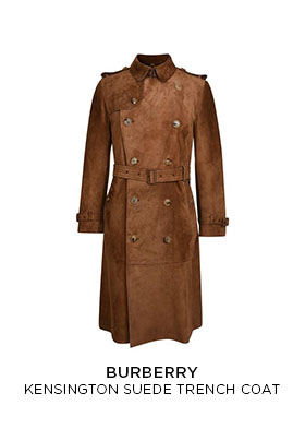 Burberry Kensington suede trench coat