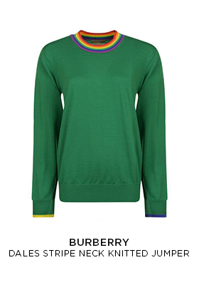 Burberry dales stripe neck knitted jumper