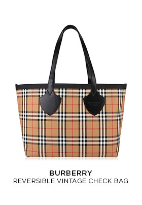 Burberry reversible vintage check bag