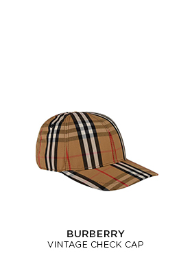 Burberry vintage check cap