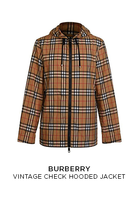 Burberry vintage check hooded zip-through lightweight jacket