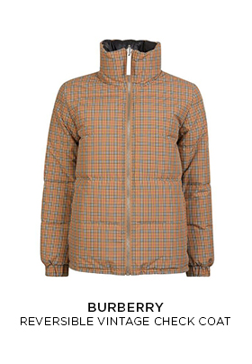 Burberry reversible vintage check padded jacket