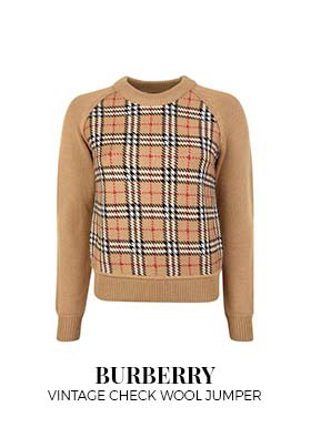 Burberry Vintage Check Wool Jacquard Jumper