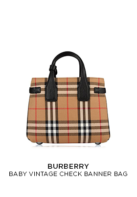 Burberry baby vintage check banner bag