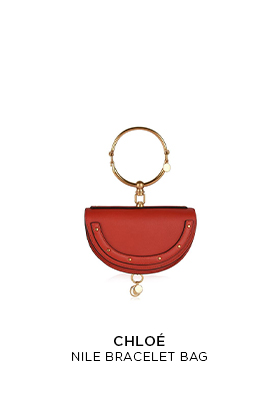 Red leather Chloe Nile mini bracelet bag
