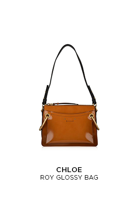 Chloe Roy glossy tan leather bag