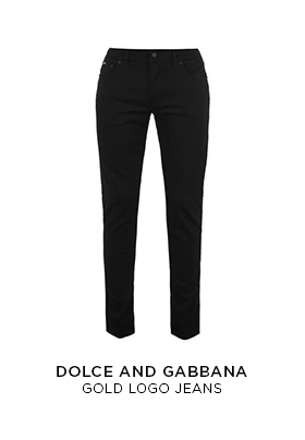 Dolce and Gabbana gold logo jeans