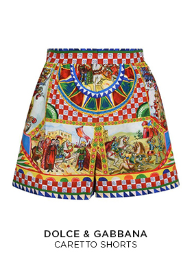 Dolce and Gabbanna caretto printed shorts