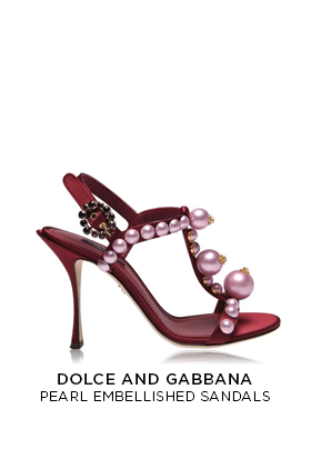 Dolce and Gabbana pearl embellished sandals