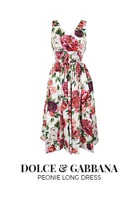 Dolce & Gabbana peonie long dress