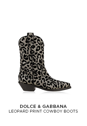 Dolce & Gabbana printed cowboy boots