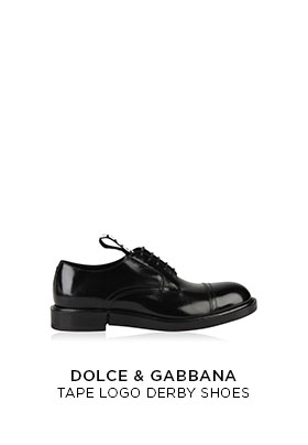 Dolce & Gabbana tape logo Derby shoes