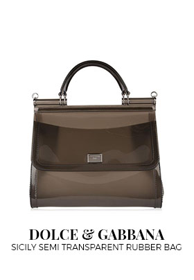 Dolce & Gabbana Sicily Semi Transparent Rubber Bag