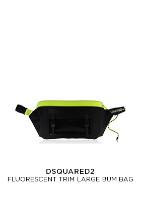 Dsquared2 flourescent trim extra large bum bag