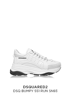 Dsquared2 Bumpy chunky white trainers