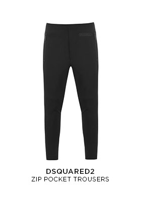 Dsquared2 DSQ zip pocket trousers