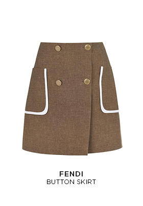 Fendi button mini skirt