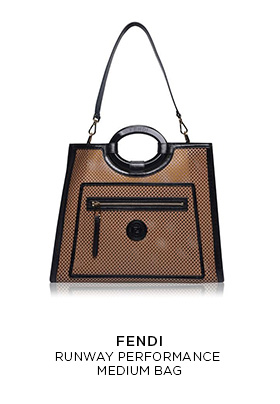 Fendi runway performance medium brown and black bag
