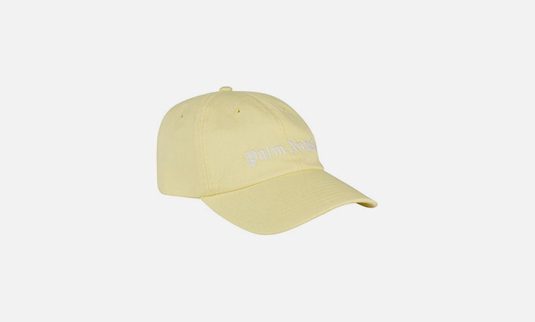 3f9c6a8822ad0 Palm Angel lemon yellow baseball cap with white embroidered Palm Angels logo  on the front