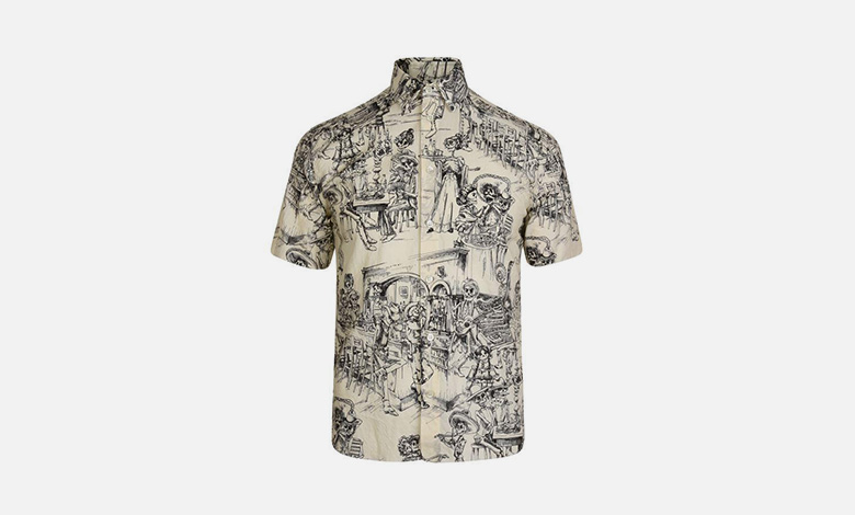 Saint Laurent Mexican printed party short sleeved shirt