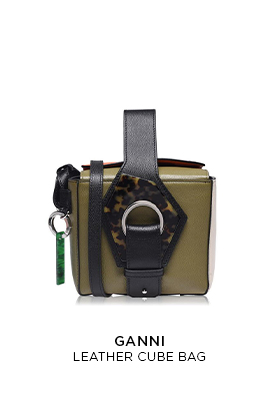 Ganni leather cube bag
