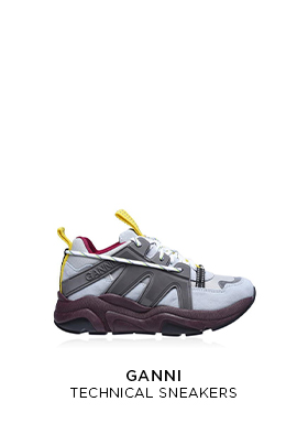 Ganni technical sneakers
